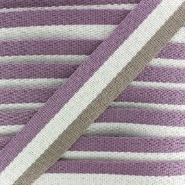Rayado strap - mauve/ecru/beige