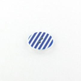 Bouton polyester Stripes bleu