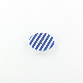 Polyester button Stripes - blue
