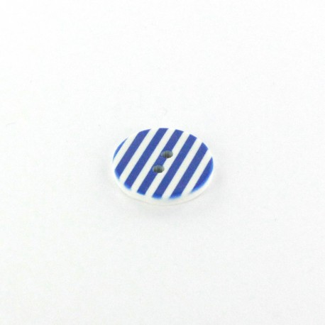 Polyester button Stripes - blue