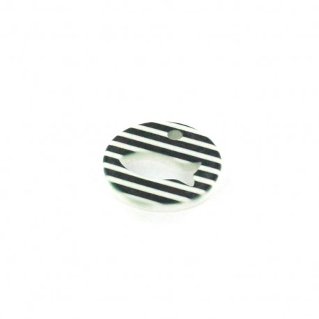 Polyester Striped Charm Fish - black