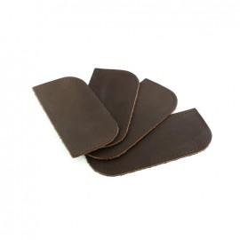Coin de sac cuir marron x 4