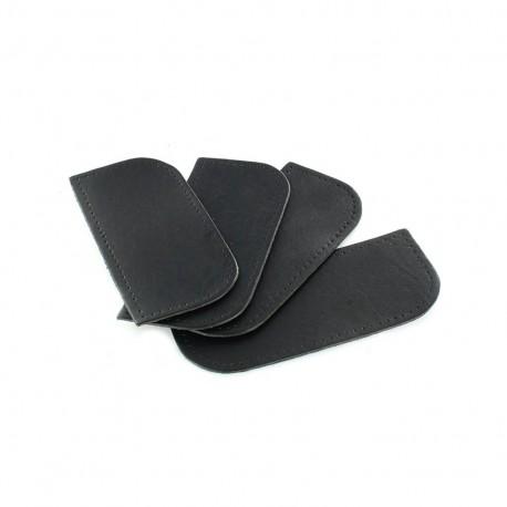 Reinforced leather corner- black x 4