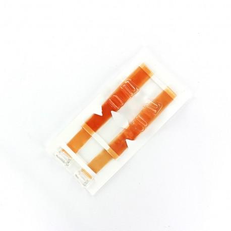Semi-transparent Bra straps- orange