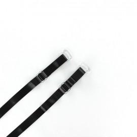 Bretelles transparentes noires