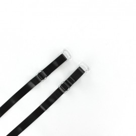 Semi-transparent Bra straps - black