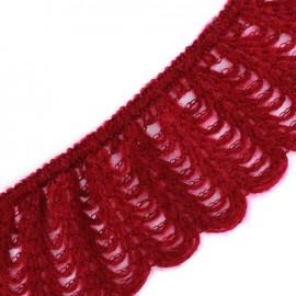 Dentelle laine élastique bordeaux