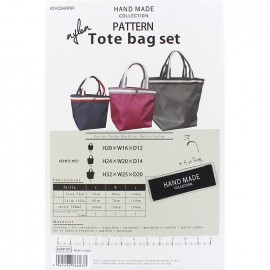 "Patron Sac Hand Made collection ""Nylon Tote bag set"""