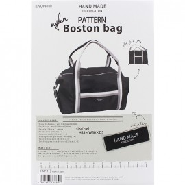 Boston Bag 38cm x 50cm x 5cm sewing pattern, HandMade Collection by Kiyohara - black