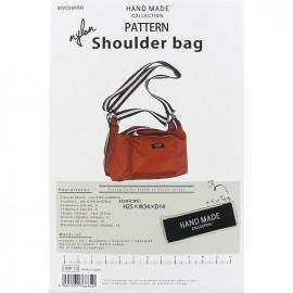 Shoulder Bag 25cm x 34cm x 14cm sewing pattern, HandMade Collection by Kiyohara - orange