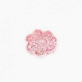 Fleur crochet rose 50 mm