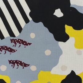 Tissu coton Kokka Echino Camouflage jaune x 60cm