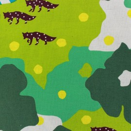 Kokka Echino fabric Camouflage - green x 60cm