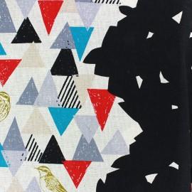 Tissu coton Kokka Echino Vista noir x 10cm