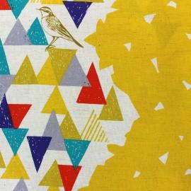Kokka Echino fabric Vista - yellow x 10cm