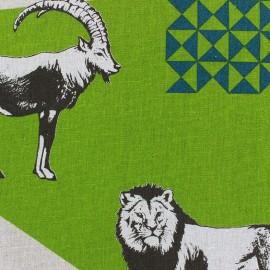 Tissu coton Kokka Echino Zon vert x 60 cm