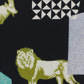 Kokka Echino fabric Zon - black x 60cm