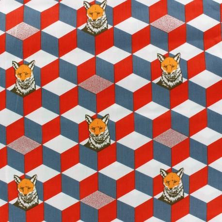 Kokka Echino fabric Gaphik Fox - orange x 10cm