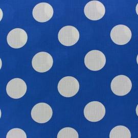 Tissu gros pois blanc sur fond bleu navy x 10cm