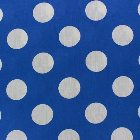 Big Dots Fabric - White / navy blue x 10cm