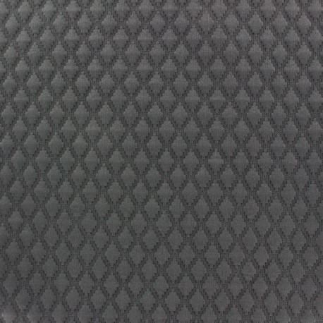 Quilted jersey fabric Diamond - dark grey x 10cm