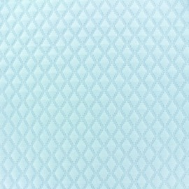 Quilted jersey fabric Diamond - light blue x 10cm