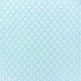 Tissu jersey matelassé Diamond bleu ciel x 10cm
