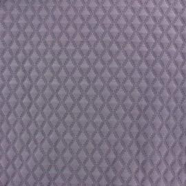 Tissu jersey matelassé Diamond lavande x 10cm