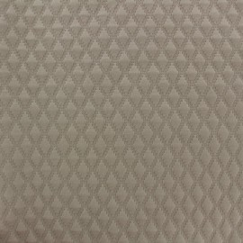Quilted jersey fabric Diamond - grège x 10cm
