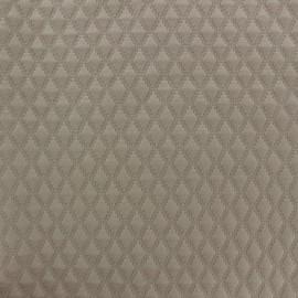 Tissu jersey matelassé Diamond grège x 10cm