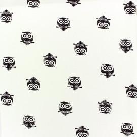 Crepe Fabric Hiboux - ecru x 10cm