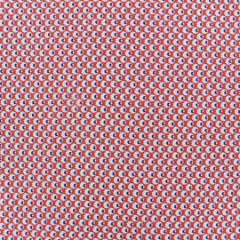 Tissu fluide satiné Polly rouge x 10 cm