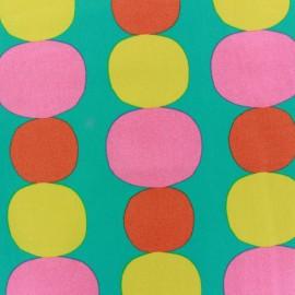 Tissu Big spots teal x 10cm