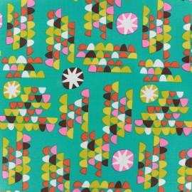 Tissu Garden remix teal x 10cm