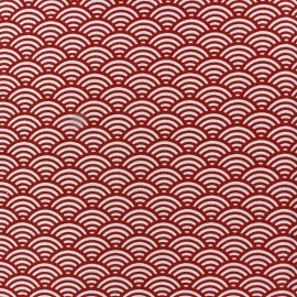 Cretonne Cotton Fabric Sushis - red x 10cm