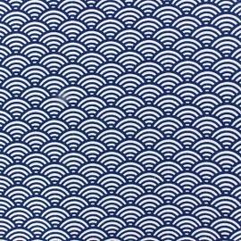 Tissu coton cretonne Sushis indigo x 10cm