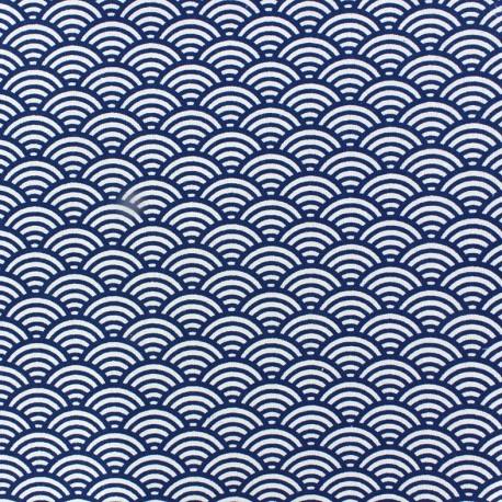 Cretonne Cotton Fabric Suchis - indigo x 10cm
