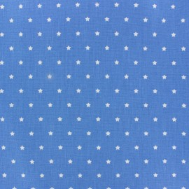 Cretonne Cotton Fabric Mini Stars blue/ivory x 10cm
