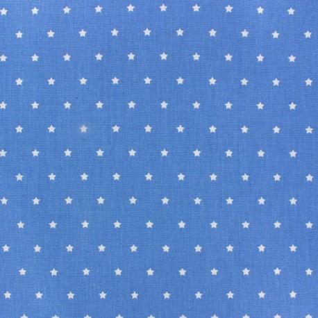 Tissu coton cretonne Mini Stars bleu/ivoire x 10cm