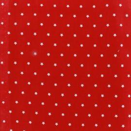 Tissu coton cretonne Mini Stars rouge/ivoire x 10cm