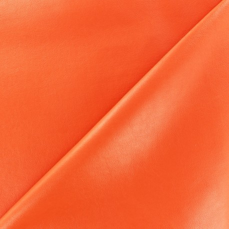 Imitation leather - pumpkin x 10cm