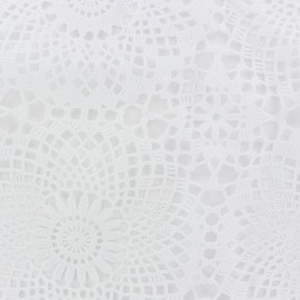 Oilcloth lace Rosace - white x 14cm