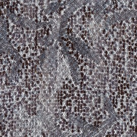 Sequined tulle Fabric Ariel - grey x 10cm