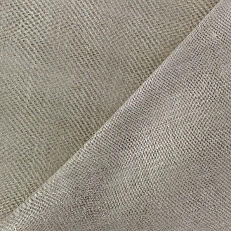 Tissu étamine Wilmo grège métal argent x 10cm