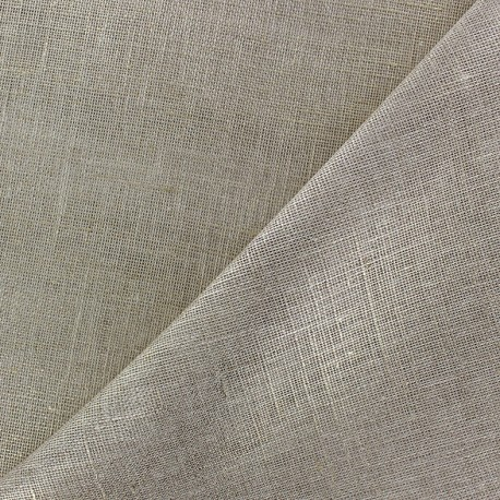 Wilmo stamen fabric -  grege and metallic silver x 10cm