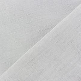 Tissu Oeko-Tex étamine Wilmo blanc métal argent x 10cm