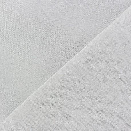 Wilmo stamen fabric -  white and metallic silver x 10cm