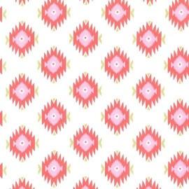 Tissu Glitzy Diamond - coral x 10cm
