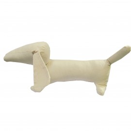 Fabric-made dog Ted to customize - beige