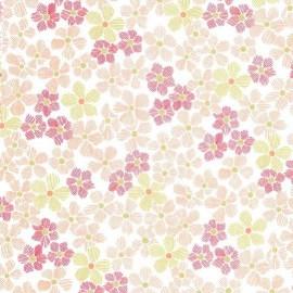 Tissu Glitz Flower - peach x 10cm